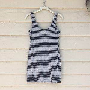 Black/Gray striped dress